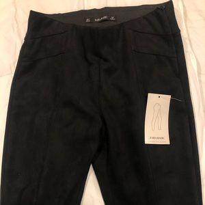 Brand new black suede Zara pants